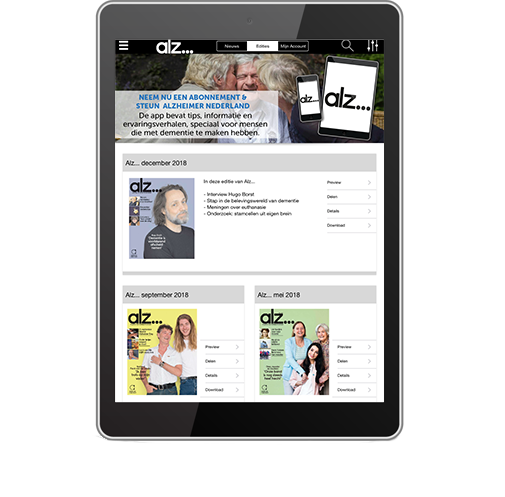 Template tablet alz