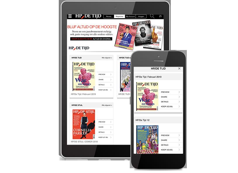 digital newspaper HP de Tijd ePublisher solution