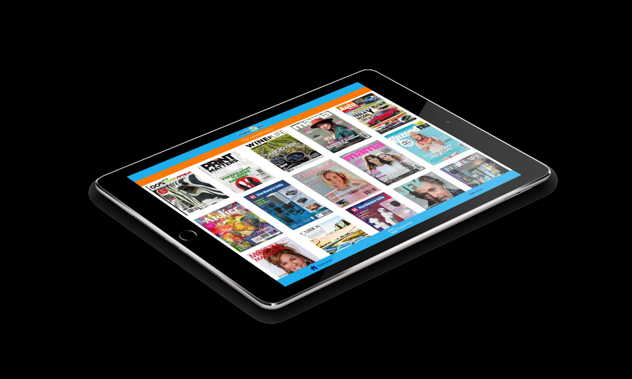 digitale tijdschriften liggend